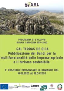 PUBBLICAZIONE BANDI MULTIFUNZIONALITA' E TURISMO SOSTENIBILE