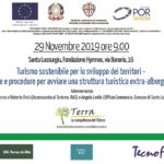 """Seminario progetto Terra """"Turismo sostenibile per lo sviluppo dei territori – norme e procedure per avviare una struttura turistica extra-alberghiera"""""""