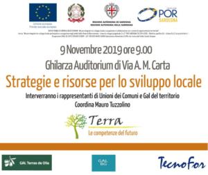 """Seminario percorso """"Terra – Le competenze del futuro"""": Strategie e risorse per lo sviluppo locale"""