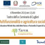 """Seminario percorso """"Terra – Le competenze del futuro"""": Multifunzionalità e agricoltura sociale"""